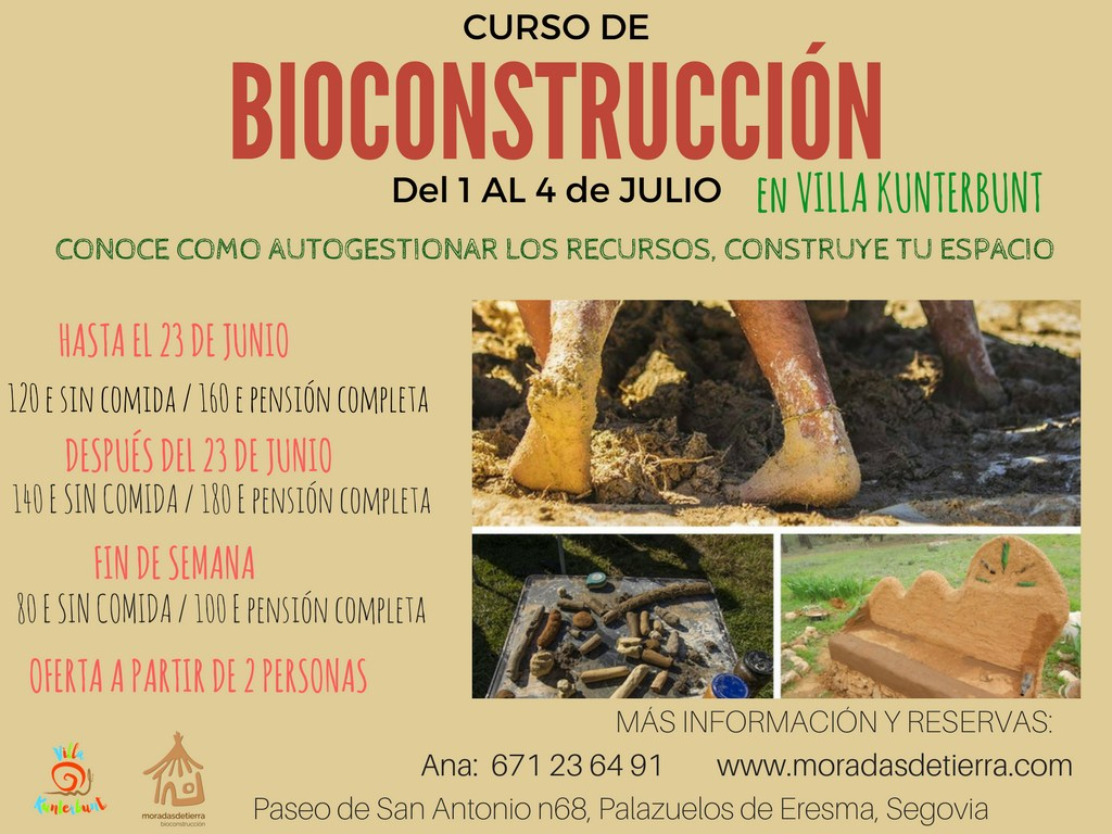 Curso de Iniciación a la Bioconstrucción en Segovia 2017. MediTERRE, the network of Mediterranean professionals of raw earth construction.