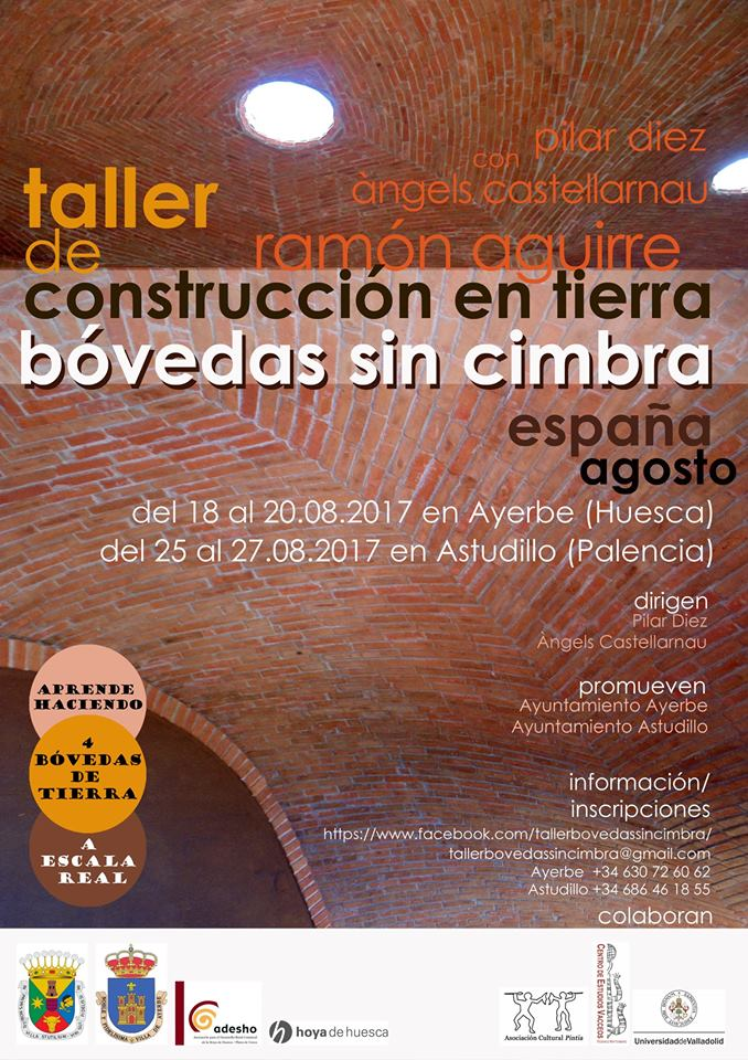 Taller de construcción en tierra bóvedas sin cimbra, España 2017. MediTERRE, the network of Mediterranean professionals of raw earth construction.