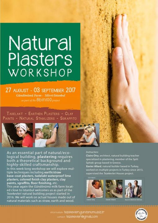 workshop of natural plasters _ Turquie. MediTERRE, the network of Mediterranean professionals of raw earth construction.