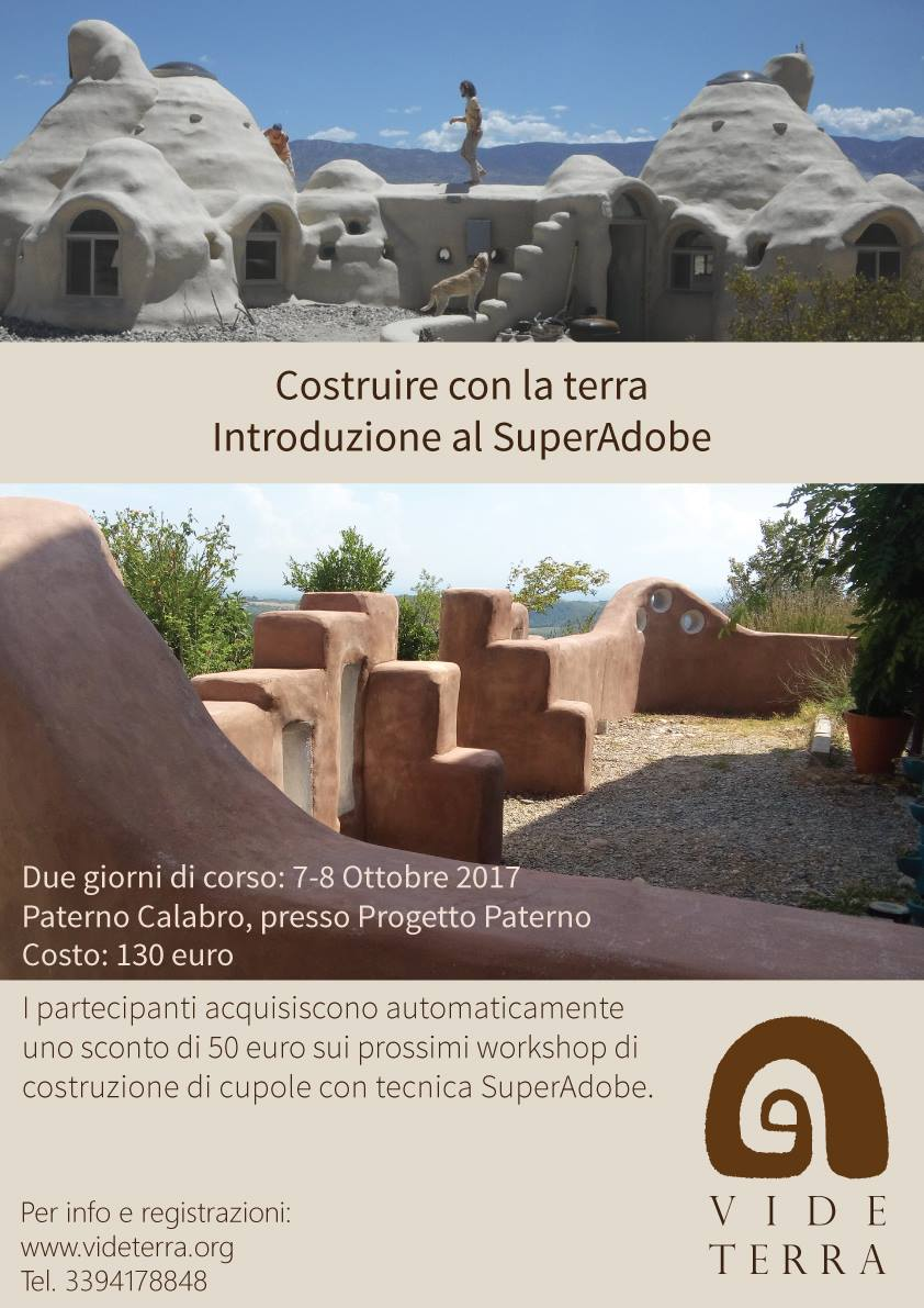 IIntroduzione al SuperAdobe. MediTERRE, the network of Mediterranean professionals of raw earth construction.