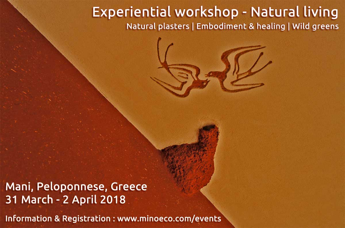 Experiential Workshop Natural Living. MediTERRE, the network of Mediterranean professionals of raw earth construction.