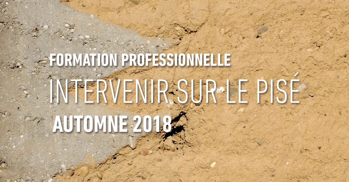 intervenir sur le pise. MediTERRE, the network of Mediterranean professionals of raw earth construction.