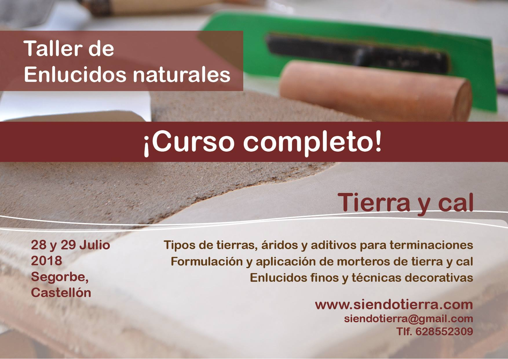 taller de enlucidos naturales. MediTERRE, the network of Mediterranean professionals of raw earth construction.