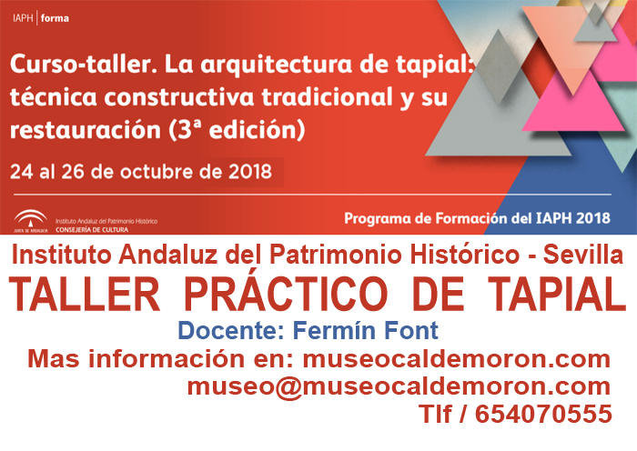 La arquitectura de tapial.MediTERRE, the network of Mediterranean professionals of raw earth construction.