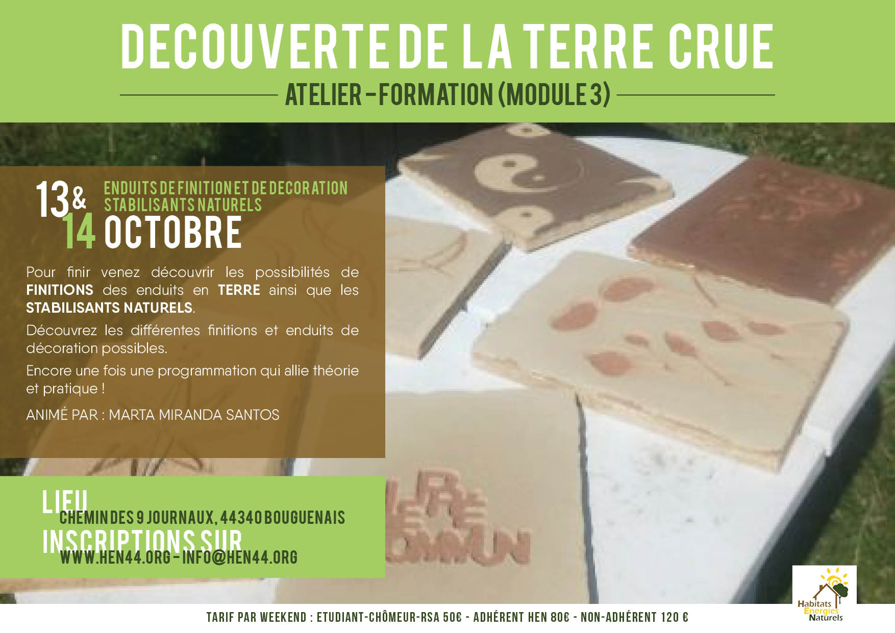 ATELIER-FORMATION DECOUVERTE TERRE-MODULE 3. MediTERRE, the network of Mediterranean professionals of raw earth construction.