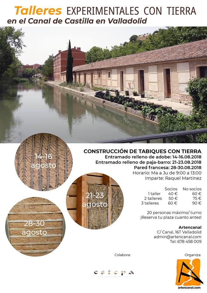 Talleres experimentales con tierra. Construcción de tabiques. MediTERRE, the network of Mediterranean professionals of raw earth construction.