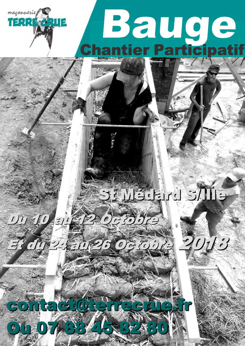 chantier participatif bauge. MediTERRE, the network of Mediterranean professionals of raw earth construction.