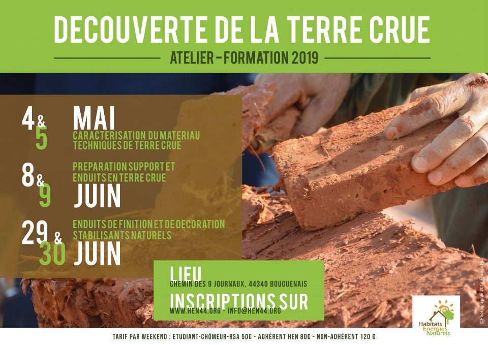 Formation enduit HEN.MediTERRE, the network of Mediterranean professionals of raw earth construction.